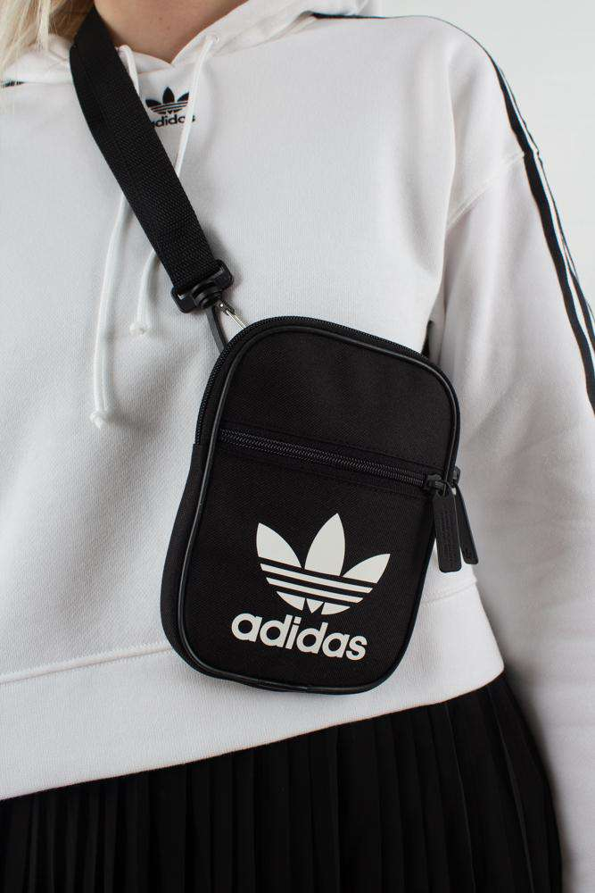 Festival Bag Trefoil DV2405 - Black/White - Adidas Originals - Sort One Size
