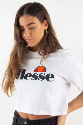 Alberta Cropped T-shirt - Optic White fra Ellesse 1