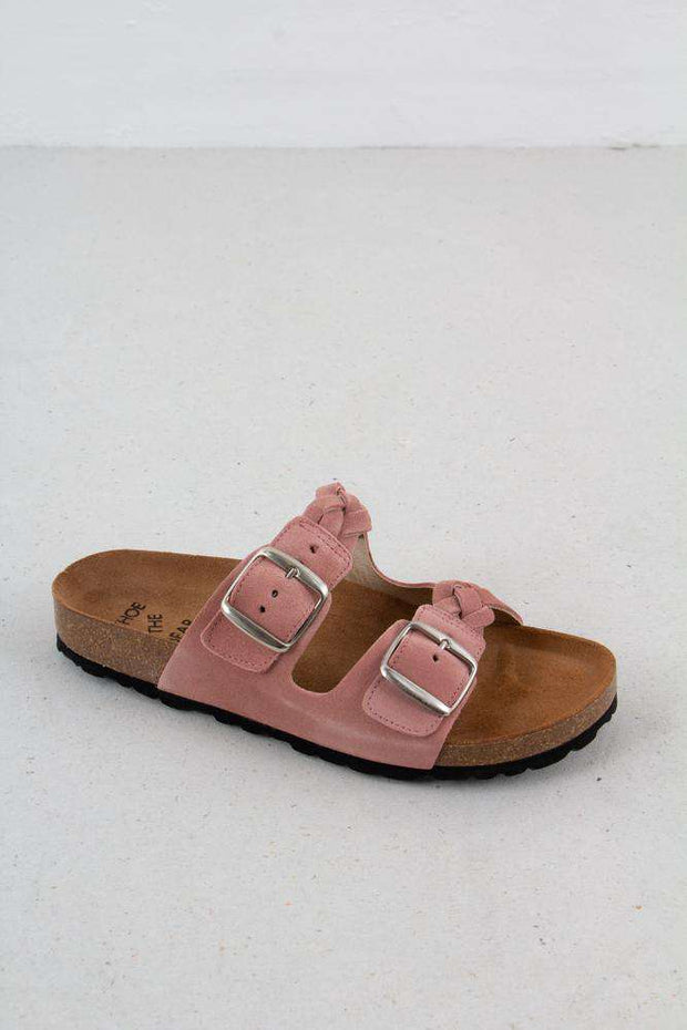 Cara Suede sandal i Rose fra Shoe The Bear 1
