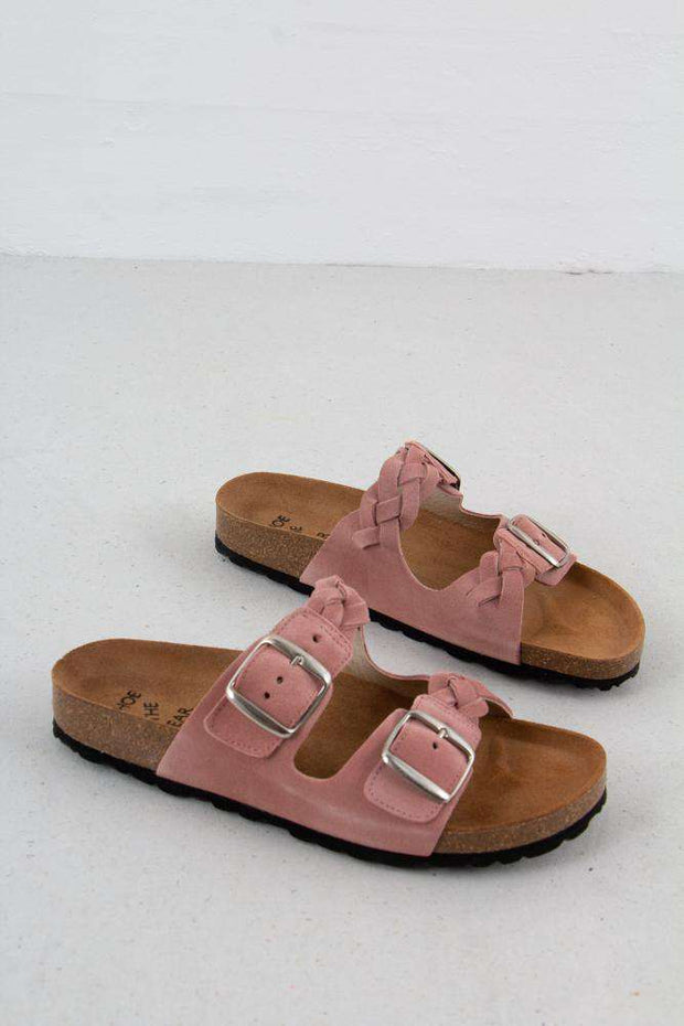 Cara Suede sandal i Rose fra Shoe The Bear 3