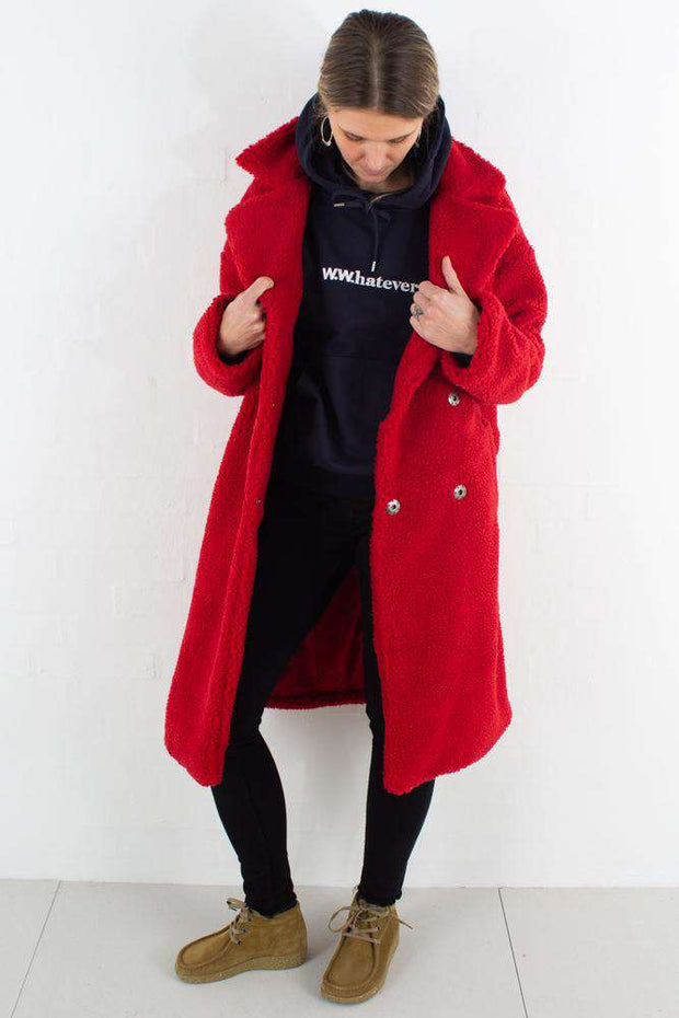 Teddy Coat - Red fra NA-KD - 1
