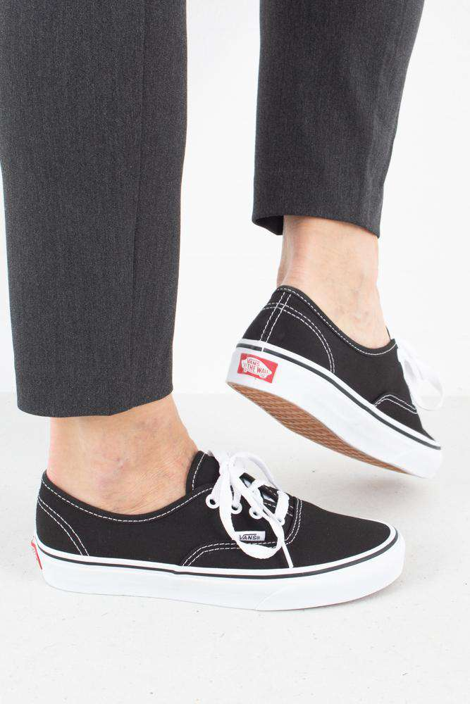 Authentic - Sort - Vans - Sort 34 1/2