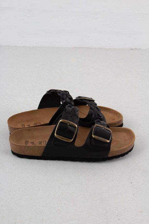 Cara Leather sandal i Black fra Shoe The Bear 2