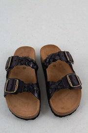 Sort Cara Leather sandal fra Shoe The Bear