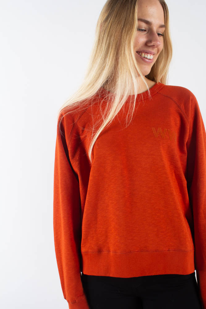 Jerri Sweatshirt - Rust - Wood Wood - Orange XS