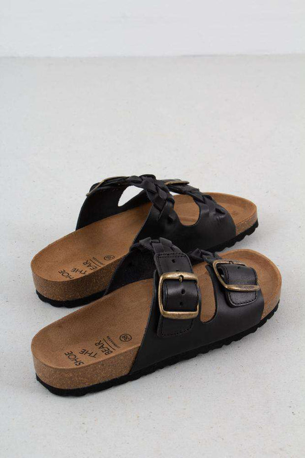 Sort sandal Cara Leather fra Shoe the Bear