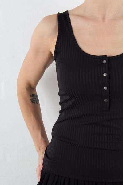 Black Rollo Tank Top fra Gestuz - 1