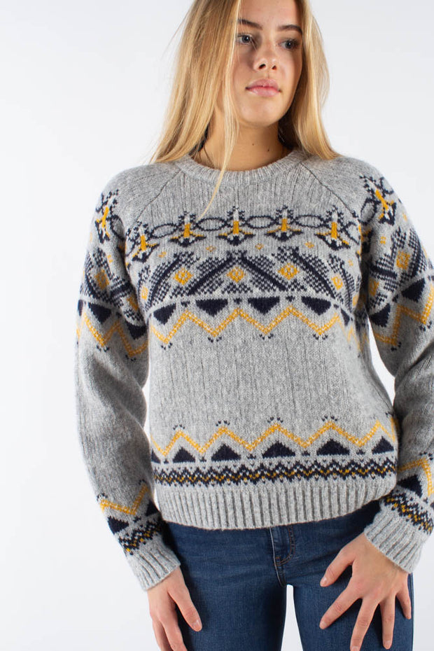 Asta Sweater - Grey Jacquard- Wood Wood Qnts 2
