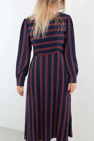 Long Sleeve Striped Midi Dress Striped fra NA-KD