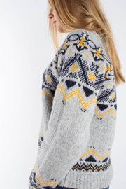 Asta Sweater - Grey Jacquard- Wood Wood Qnts 4