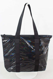 Holographic Tote Bag Rush Black I sort fra Rains 1