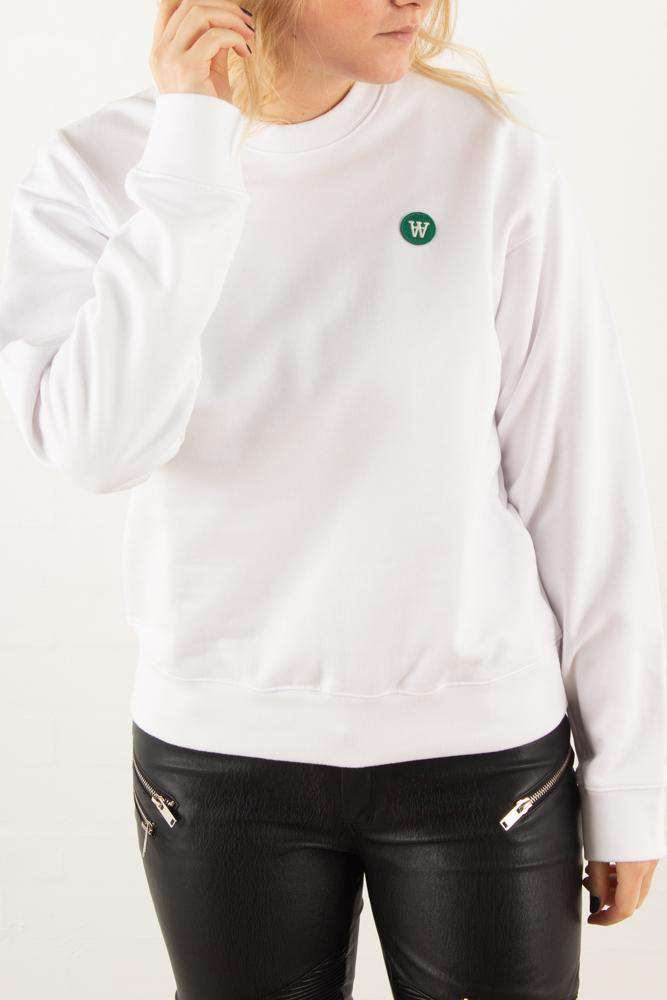 Jess sweatshirt - Bright White - Wood Wood - Hvid L