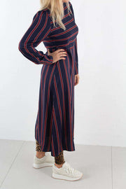 Long Sleeve Striped Midi Dress - Striped - NA-KD