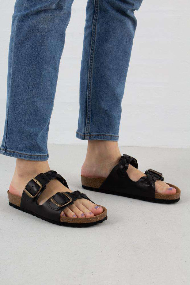 Cara Leather sandal i Black fra Shoe The Bear 1