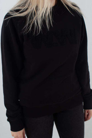 Hester Sweatshirt - Black fra Wood Wood