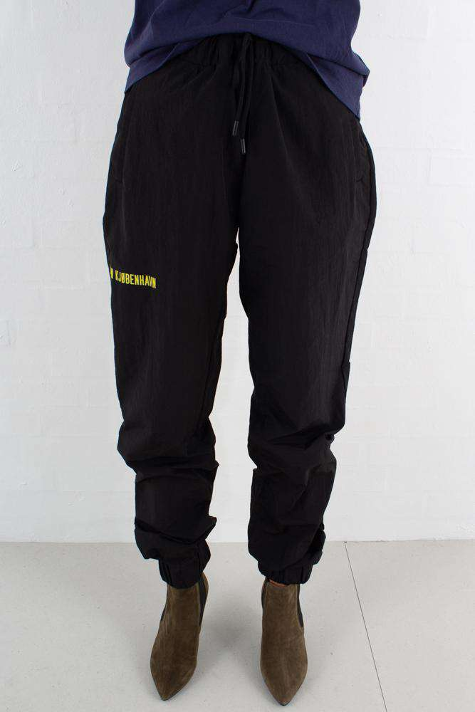 Track Pants - Black/Nylon - Sort S