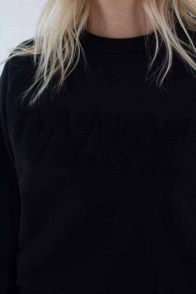 Hester Sweatshirt - Black - Wood Wood - Sort XS