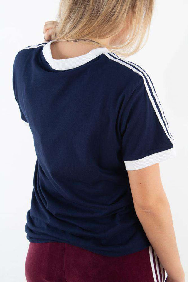 3 Stripes Tee - Navy - Adidas Originals