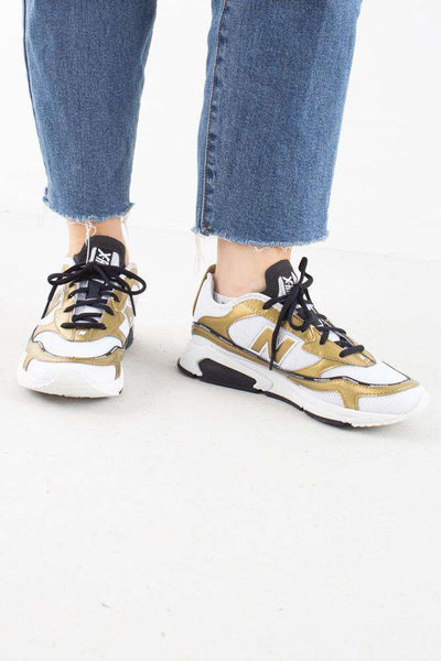 WSXR CHILD White/Gold New Balance sneaks