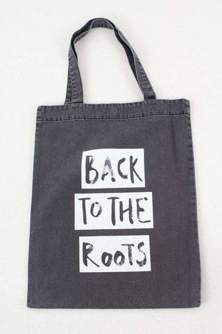 Roots Tote Bag - Washed Black fra Gestuz