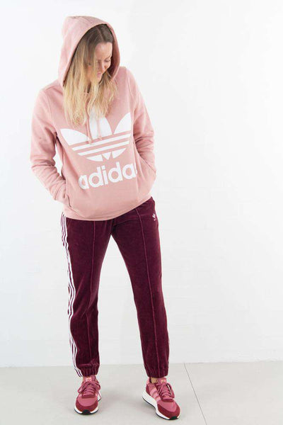 Trefoil Hoodie Dust Pink fra Adidas Originals - outfit