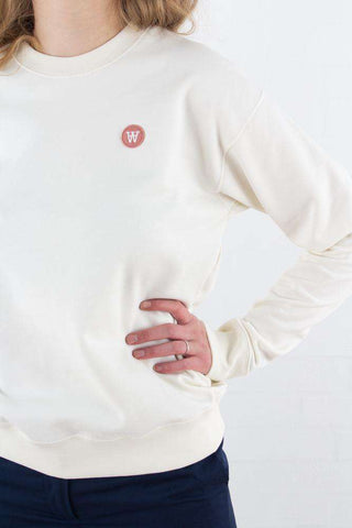 Jess sweatshirt - Off White fra Wood Wood