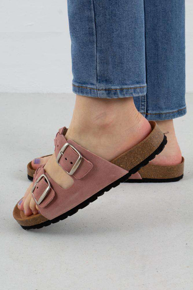 Cara Suede sandal i Rosa fra Shoe The Bear