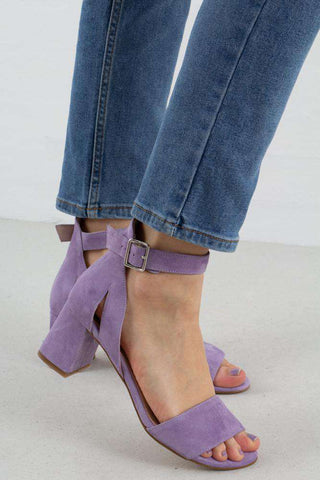 Lilac May Suede Sandal fra Shoe The Bear