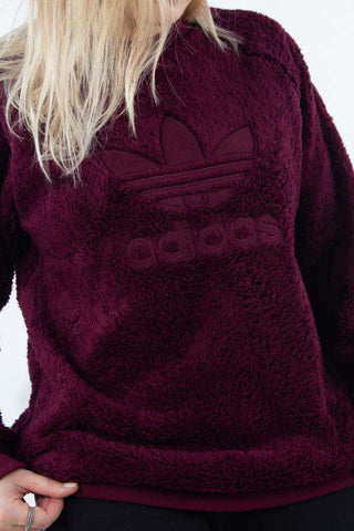 Winterized Crew - Maroon fra Adidas Originals - logo