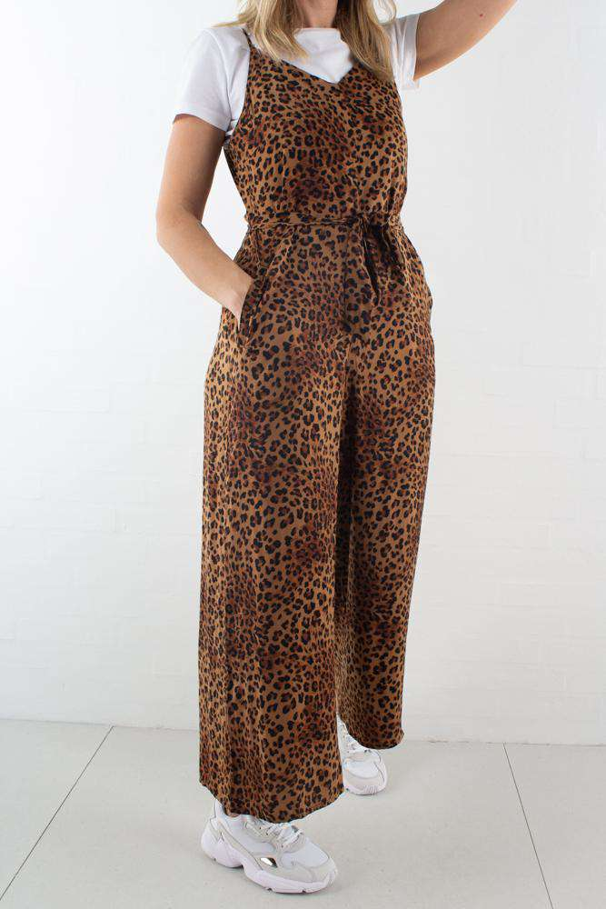 Jane Jumpsuit - Brown Leo - Gestuz - Leopard XL