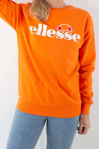 Orange Agata Crew Sweat fra Ellesse 1