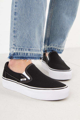 Classic Slip-On Platform - Black fra Vans