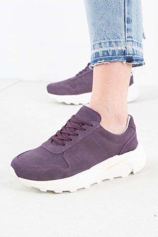 Bailey Runner - Dusty purple suede fra Garment Project