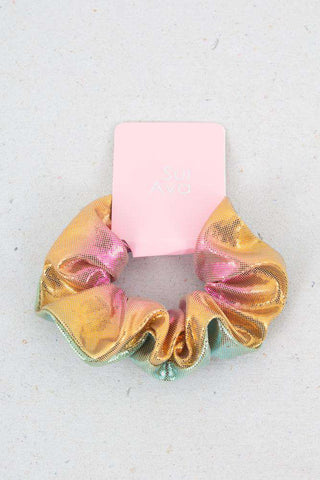 Multi Colored Hair elastic - metallic gold 1