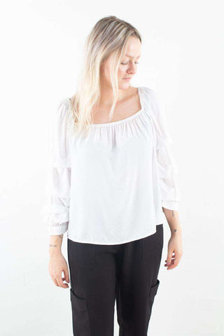Madrina White hvid bluse Moves By Minimum