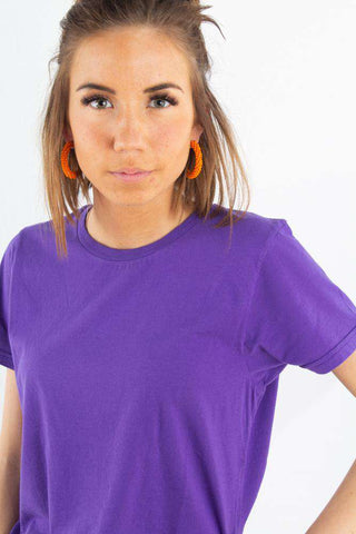 Light Organic Tee - Ultra Violet fra Colorful Standard