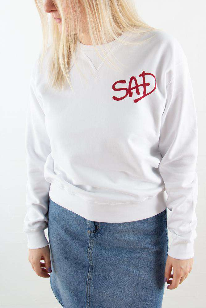 Flora Sweatshirt - Bright White - Wood Wood - Hvid L