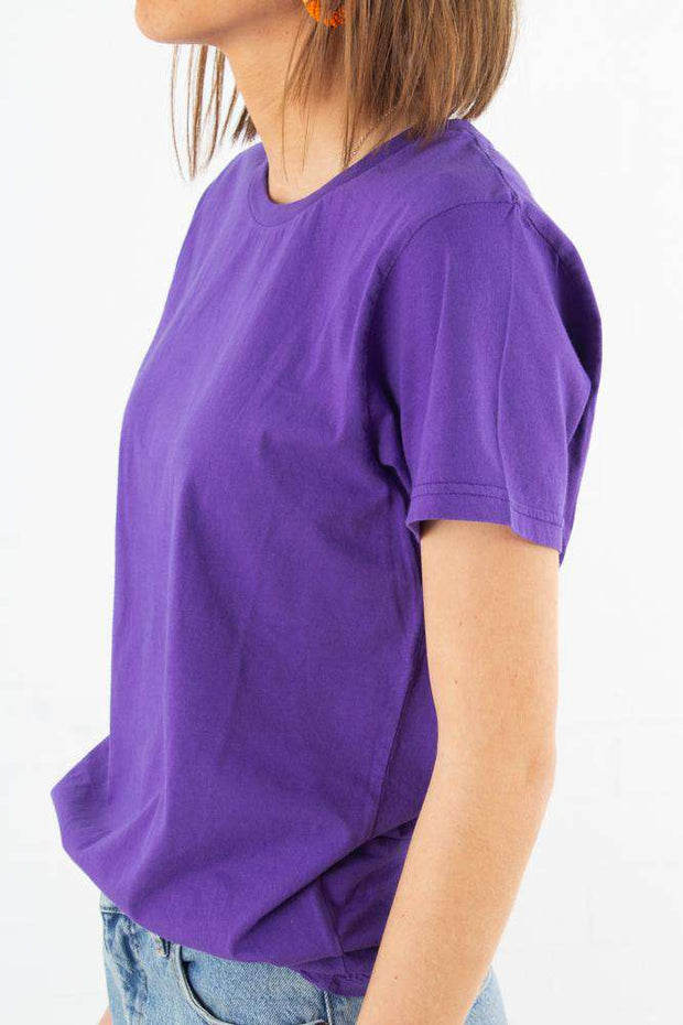Light Organic Tee - Ultra Violet fra Colorful Standard 2