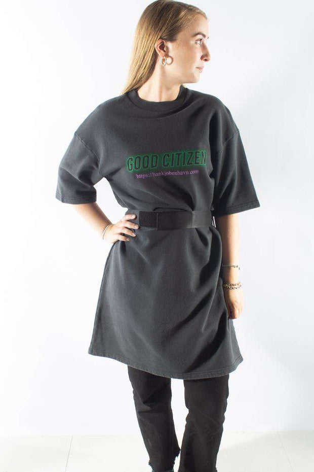 Tee Sweat Dress t-shirt Faded Black sort Han Kjøbenhavn