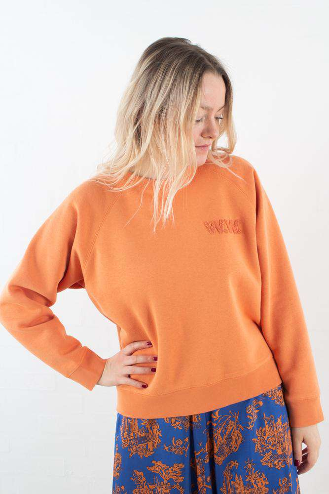 Jerri Sweatshirt - Dusty Orange - Orange L