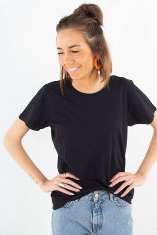 Light Organic Tee - Deep Black Fra Colorful Standard