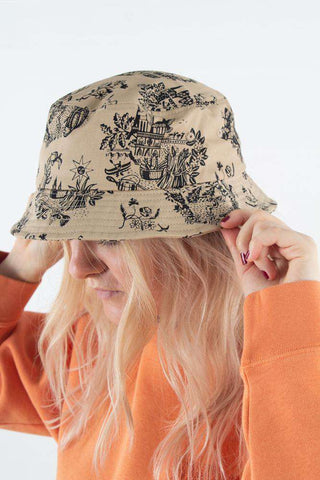 Bucket Hat i Sand fra Wood Wood -