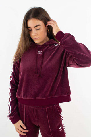 Cropped Hoodie - Maroon fra Adidas Originals - front
