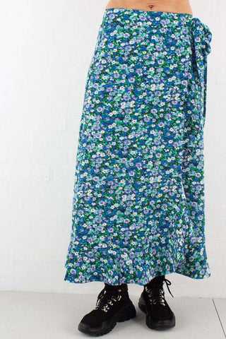Fay Wrap Skirt - Florals Ruffle fra 2ND ONE
