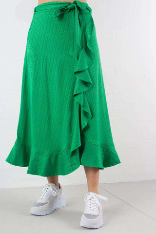 Fern Petals Ruffle Fey Wrap Skirt nederdel fra 2ND ONE
