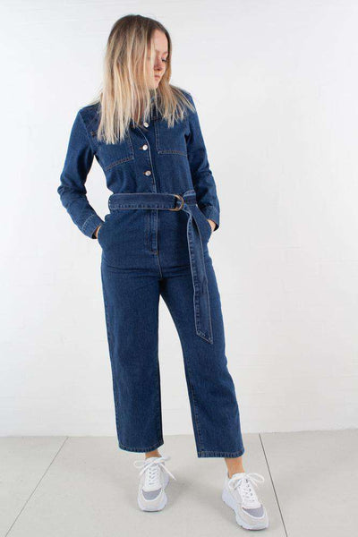 Waist Belt Denimsuit Blue fra NA-KD