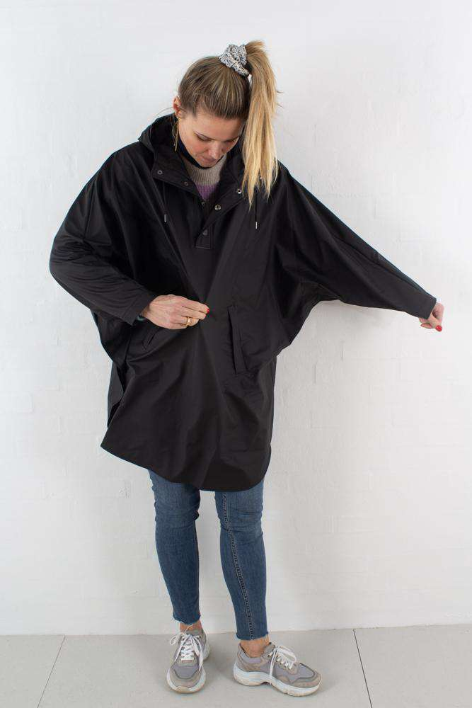 Poncho - Sort - Rains - Sort S
