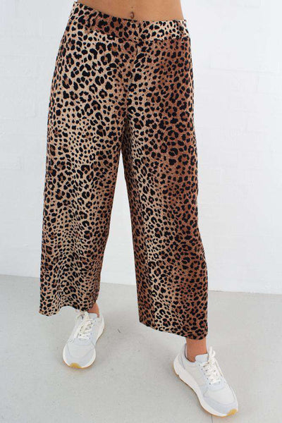 Eloise Crop - Leopard fra 2ND ONE - front