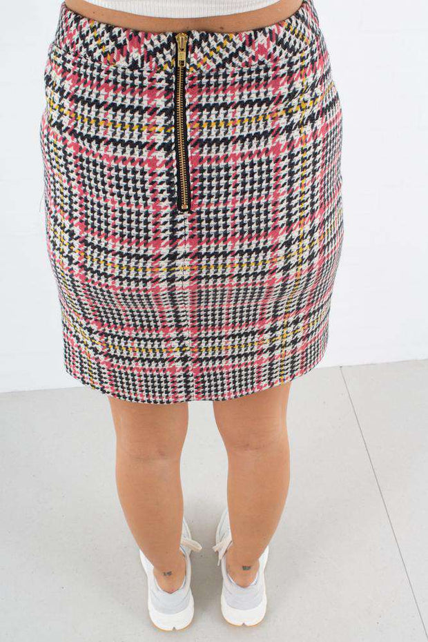 Amara Skirt - Check - Gestuz