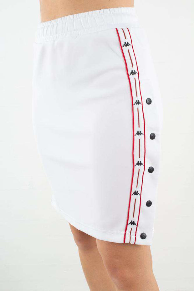 Auth. Baloma Snap Skirt i White/Red/Black fra Kappa 1